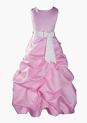 Per Bambina Da Festa Damigella Vestito Per Spettacolo 1-13 Y Rosa+Fascia