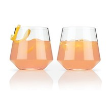 Glass Tumblers, Raye Crystal Cocktail Elegant Insulated Tumbler, Set Of 2 - $28.49