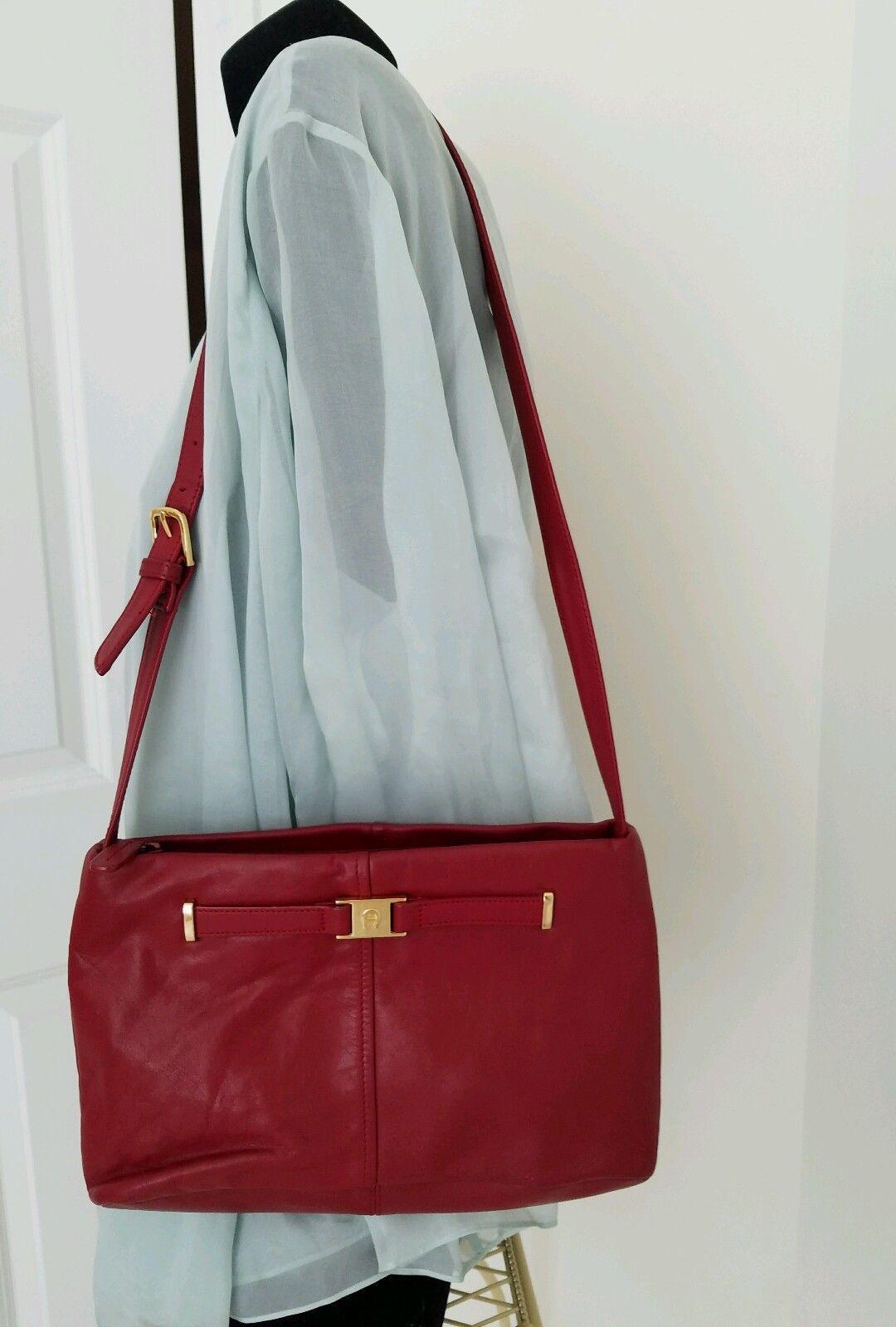 Etienne Aigner Purse Leather Crossbody vintage Designer Purse Maroon Pocketbook Etienne Aigner Oxblood Shoulder bag Burgundy Leather
