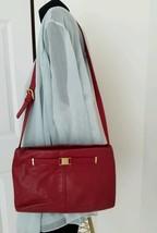 Vintage ETIENNE AIGNER Beautiful Burgundy Leather Shoulder bag Handbag Purse - $40.46