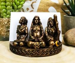 Ebros Triple Moon Goddess Maiden Mother Crone Pentagram Business Card Ho... - $18.99