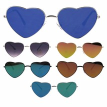 Color Mirror Reflective Lens Valentine Lover Heart Metal Sunglasses - $9.95