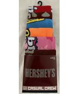 Hershey's 6 Pk Adult Novelty Crew Socks Shoe Size 8-12 Age 14+ Unisex Tw... - $27.99
