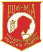 Pow Mia Insignia Pin - Red 1-1/2'' Inch Large New!!! - $5.93
