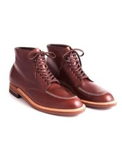 Bespoke Men's Brown Leather Lace-Up Formal Chukka Leather Boots - $139.00+