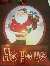 Santa Ho Ho Ho Sign Christmas Decor upc 639277578921 - $29.28