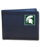 NCAA - Michigan St. Spartans Leather Bi-fold Wallet Packaged in Gift Box  - $45.99