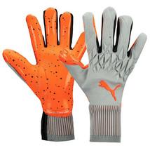 Puma Future Grip 19.1 Goalkeeper Gloves GK Soccer Football Gray/Orange 04162401 - $115.99