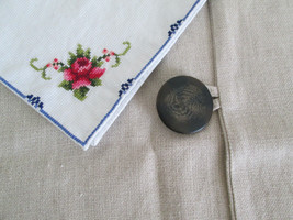 "Pottery Barn Pillow Sham  NATURAL LINEN  18"" Square, Single Shams, Accen... - $15.78"