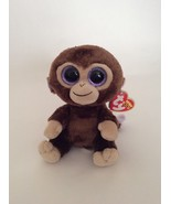 """TY BEANIE BABY Boo Collection brown tan purple COCONUT THE MONKEY 6"""" sma... - $6.79"""