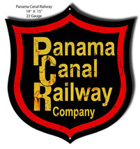 Aged Looking Panama Railroad Laser Cut Out 14×15 - $23.76