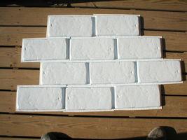 SIX 6x12 DIY RUSTIC CONCRETE BRICK MOLDS MAKE BRICK VENEER WALL TILE FOR PENNIES image 4