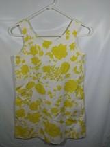 Zara Shift Dress Size 11/12 Girls Yellow Floral Pockets Bow Short Casual... - $49.99