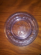 Westmoreland Amethyst Sandwich Glass 1831 Liberty  Eagle Clear Cup Plate... - $12.34