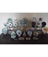 29 Souvenir Miniature Cups & Saucers + Bonus * Lot 1 - $116.82