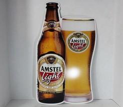 Vintage 90s 1997 Amstel Light Beer Large Hanging Tin Sign Advertisement ... - $46.28