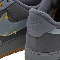 Nike Air Force 1 Premium Grey / Yellow Shoes / Trainers image 4