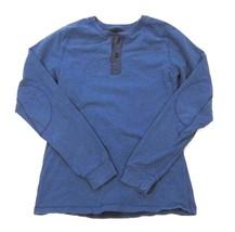 Mens Lululemon All Town Henley Long Sleeve Fleece Sweatshirt Heathered B... - $53.36