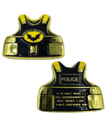 """2.5"""" POLICE PROTECT THE NATION BATMAN BODY ARMOR CHALLENGE COIN - $23.74"""