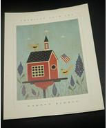 Warren Kimble 4 Print Lot   Birdhouses  Barn, School, Church Birdhouse  ... - $38.65