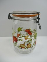 VTG Corning Spice of Life Glass Canister 1 L Storage Jar Hinged Lid France - $8.29