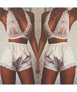 2pcs Sexy Women's Sleepwear Lingerie Pajamas Babydoll Lace Dress Underwe... - $23.55