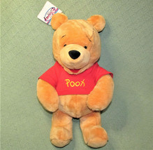 "17"" DISNEY STORE WINNIE THE POOH PLUSH BEAR w/ HANG TAG STUFFED ANIMAL E... - $23.38"