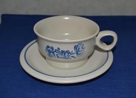 2 Pfaltzgraff Yorktowne Flat Cup & Saucer Stone... - $9.65