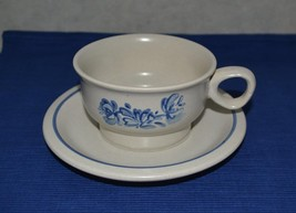 2 Pfaltzgraff Yorktowne Flat Cup & Saucer Stoneware 1970's - $9.65