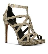 Michael Kors Sandra Platform glitter chain mesh size 8 MSRP $220 - $128.25