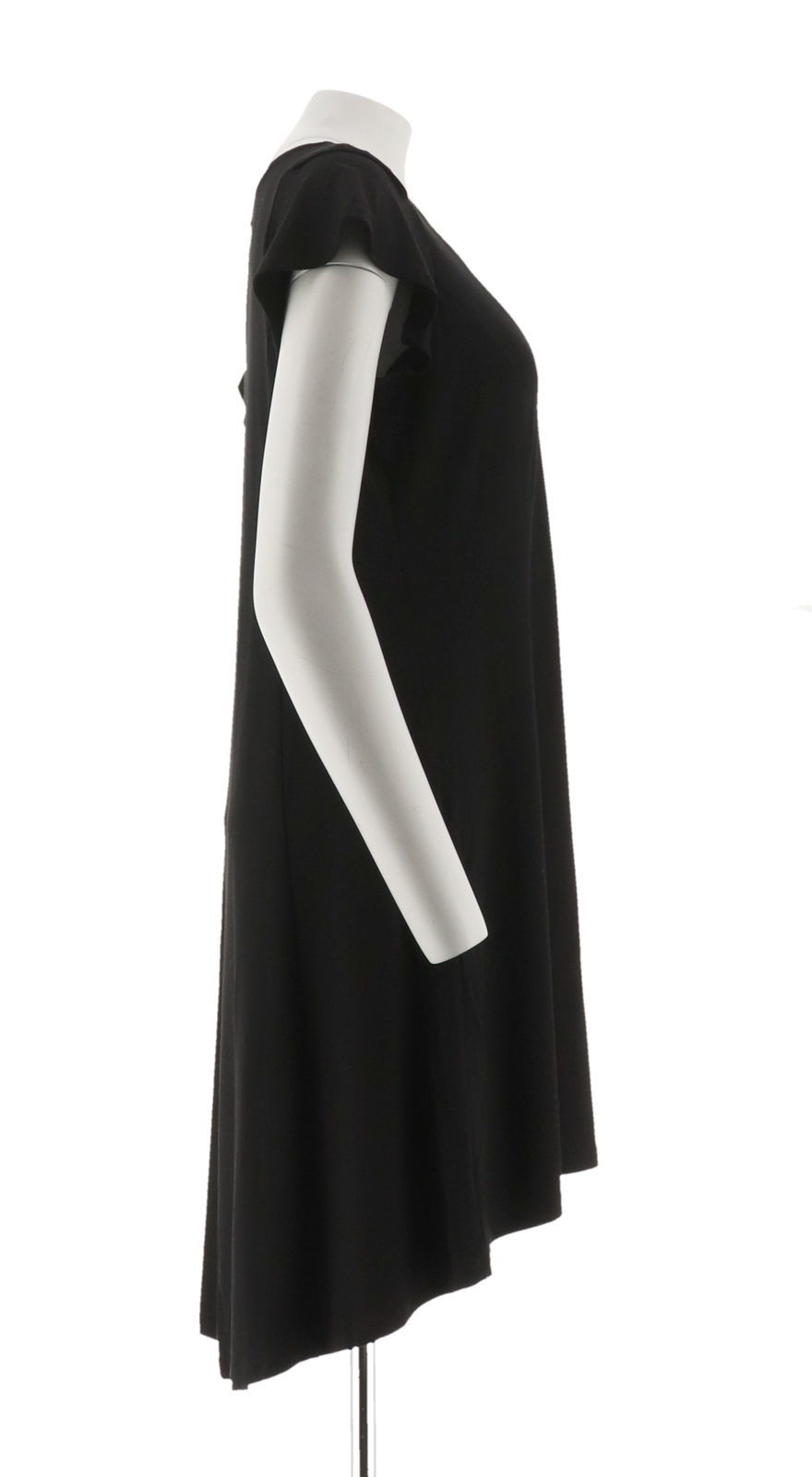 H Halston Petite Knit Crepe Dress Cutout Black PS NEW A308103 image 4