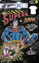 SUPERMAN 2001 DC Comics Lg T-Shirt In Collectible Metal Box New Unopened  - $49.99