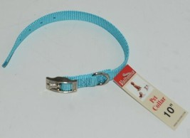 Valhoma 720 10 TQ Dog Collar Turquoise Single Layer Nylon 10 inches Package 1 image 1