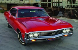 1967 Chevrolet  SS 427 red front   24 x 36 INCH   sports car - $18.99