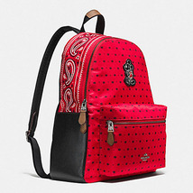 Coach Charlie Backpack F 59358 BANDANA PRINT WITH MICKEY Black Rucksack ... - $169.00