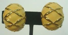 Joan Rivers  Goldtone Beige Clip on Earrings - $12.86