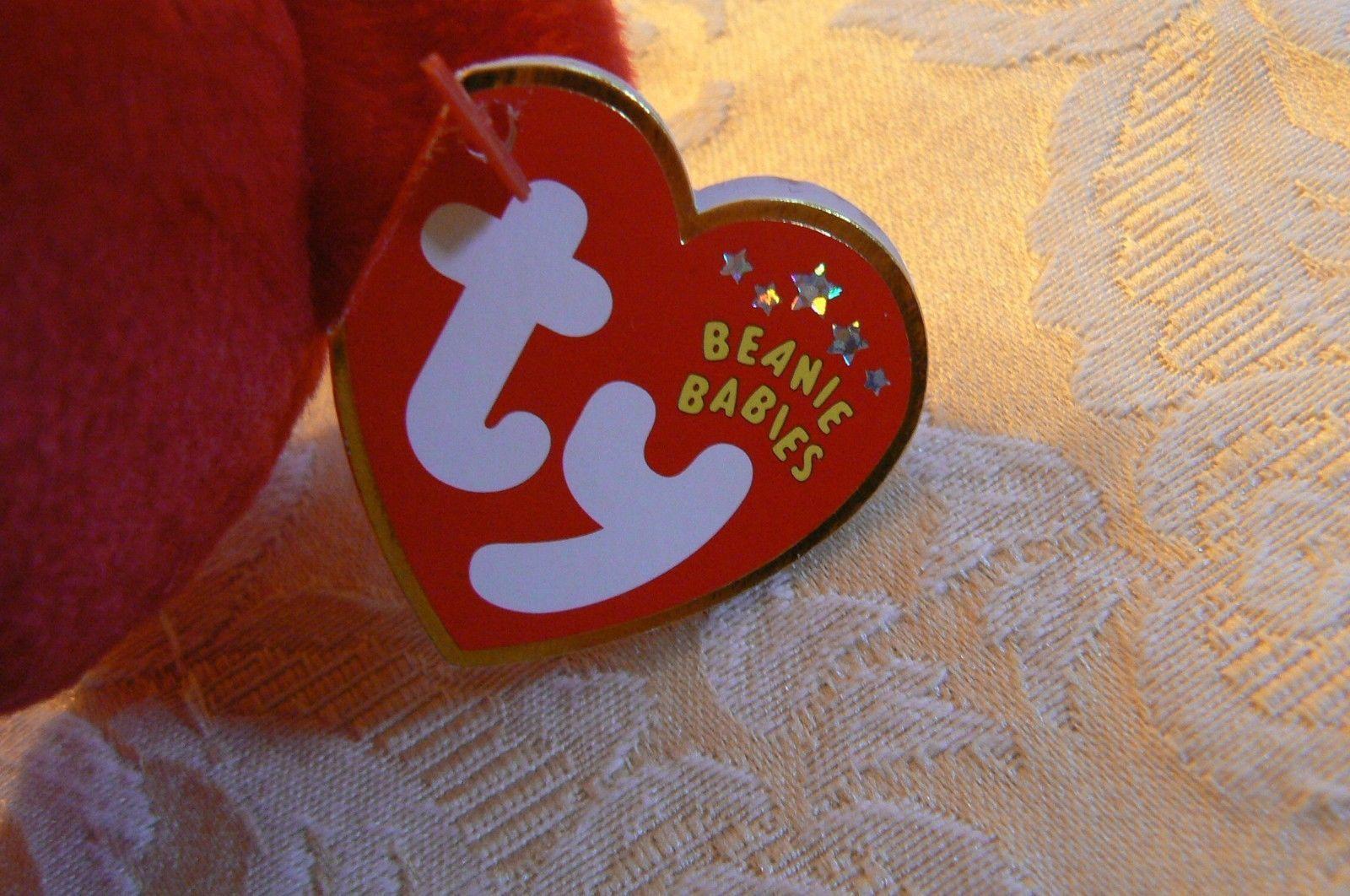 "Vintage Ty Beanie Babies Liberty "" The Bear "" Hang Tag 2001/Tush Tag 2002 Errors image 7"