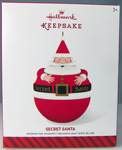SECRET SANTA 2014 Hallmark Christmas Holiday Ornament NIB Hide a Surprise Inside - $9.50
