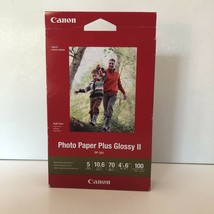 "100 sheets Canon Photo Paper Plus Glossy II 4"" x 6"" Sealed - $14.01"