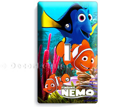 colorful finding Nemo clown fish Dory Marlin single light switch wall plate cove - $9.97
