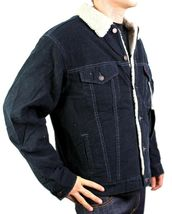 NEW NWT LEVI'S MEN'S CLASSIC CORDUROY NAVY FUR TRUCKER JACKET 705205036 image 3