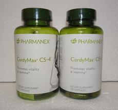Two Pack: Nu Skin Nuskin Pharmanex CordyMax Cordy Max CS-4 CS4 120 Capsules x2 - $58.00