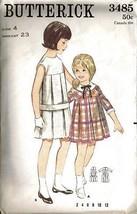 """Vintage 1960's Butterick Pattern 3485 - Child's """"One-Piece Dress"""" - Sz 4 - $10.99"""