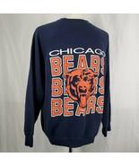 Vintage Artex Chicago Bears Sweatshirt Mens 2XL Raglan Sleeves 50/50 Cre... - $31.49