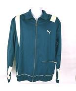 Puma Men's Sweatshirt Jacket Size Large Zip Up Blue White - $28.15