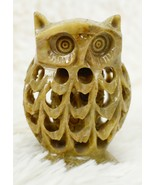 Owl Inside Another Owl Stone Marble Hand Carved Folk Art Small Figurine ... - $44.55