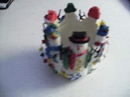 Avon Snowy Folks Votive Snowman Candle Holder - $14.69