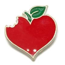 Vintage Hallmark Bitten Heart Pin - 1984 Brooch - $10.00