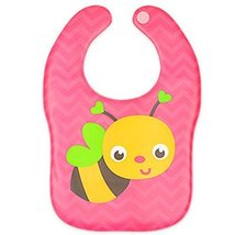 2 Pcs Comfortable and Soft Cartoon Bee Waterproof Pocket Baby Bibs