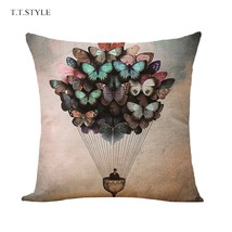 T.T.STYLE Hot-air Balloon Pattern Cotton Linen(COLORMIX) - $9.64